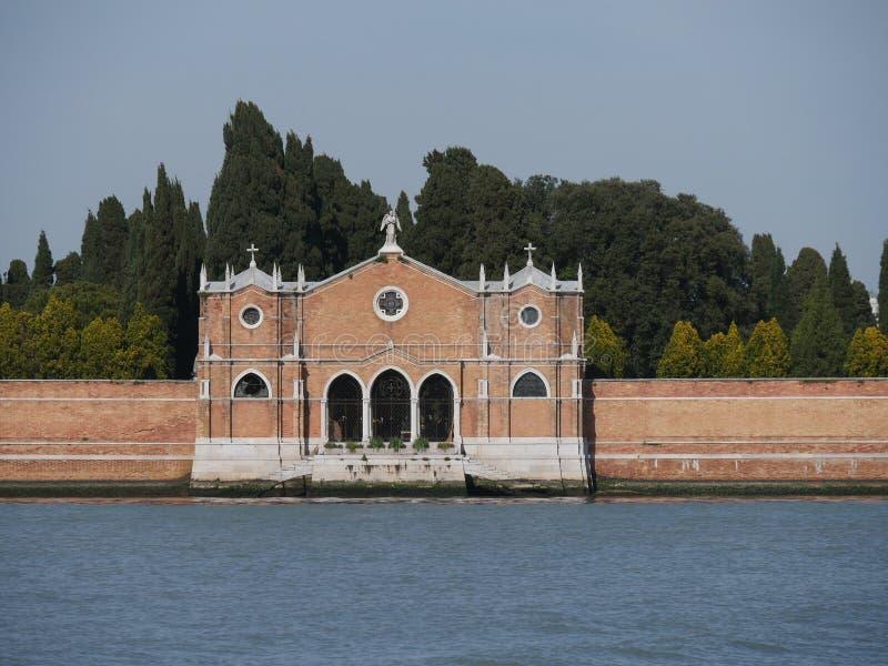 Cemitério de Veneza - de St Michael imagem de stock