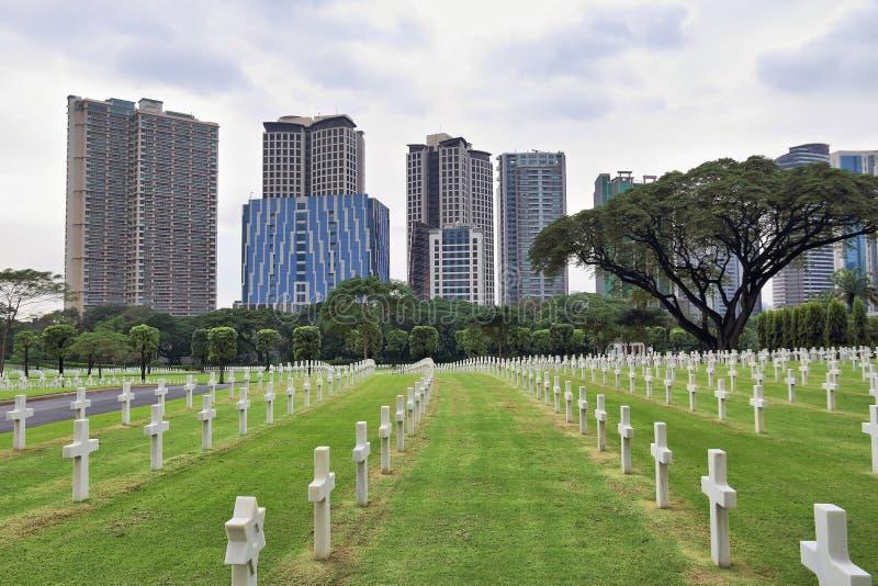 Cemitério do americano de Manila imagens de stock