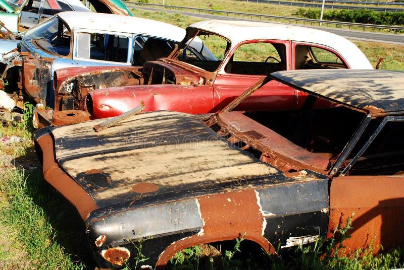 Cemitério do carro fotografia de stock