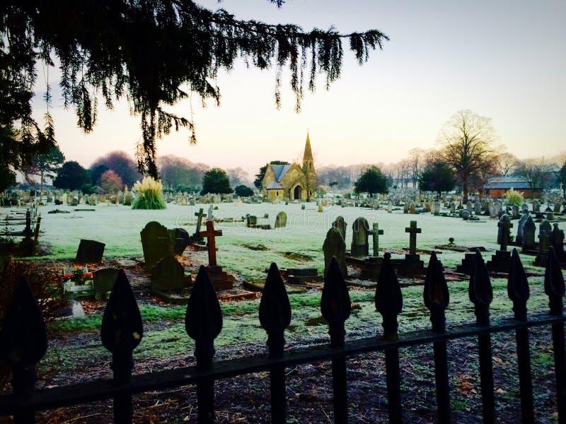 Cemitério do cemitério imagem de stock