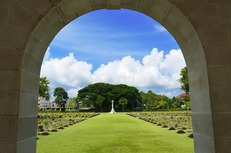 Cemitério do memorial da guerra de mundo 2 fotografia de stock