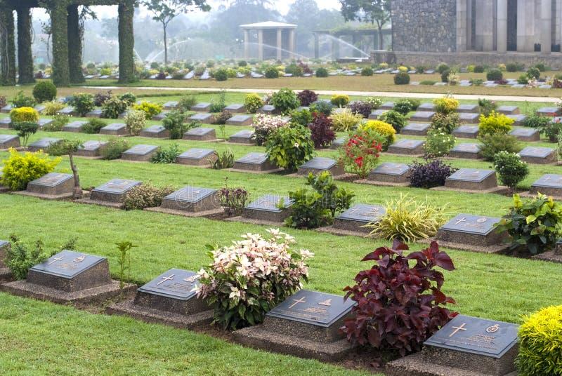 Cemitério do memorial de guerra de Ktauk Kyant em Myanmar foto de stock