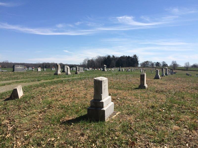 Cemitério do país de Kentucky imagens de stock royalty free