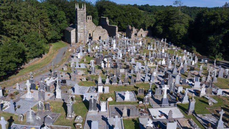 Cemitério do St Mullins e local monástico condado Carlow ireland foto de stock