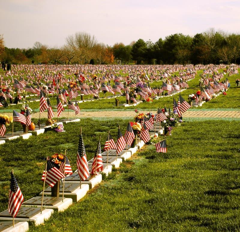 Cemitério dos veteranos fotos de stock royalty free