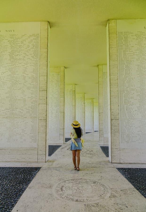 Cemitério e memorial americanos de Manila foto de stock