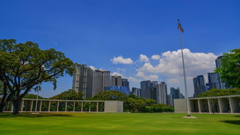 Cemitério e memorial americanos de Manila foto de stock royalty free
