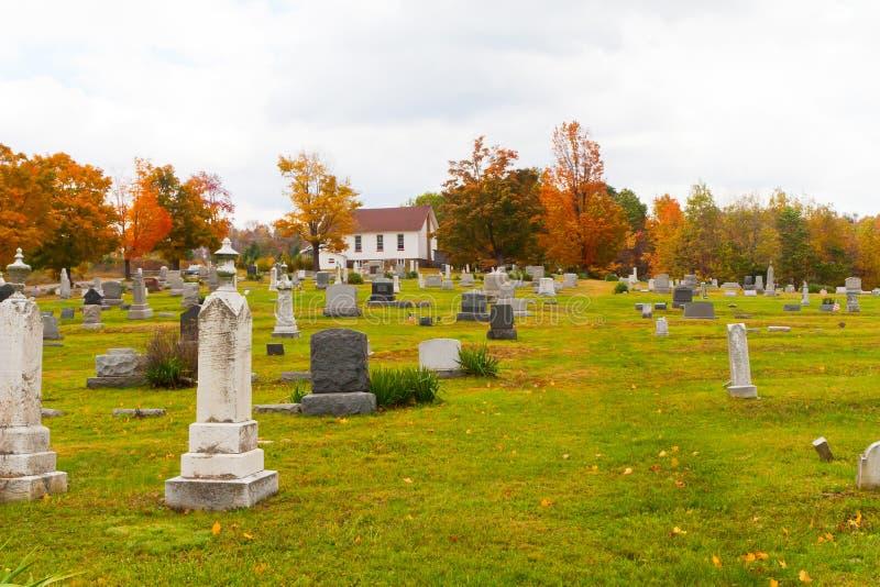 Cemitério em Pensilvânia fotografia de stock royalty free