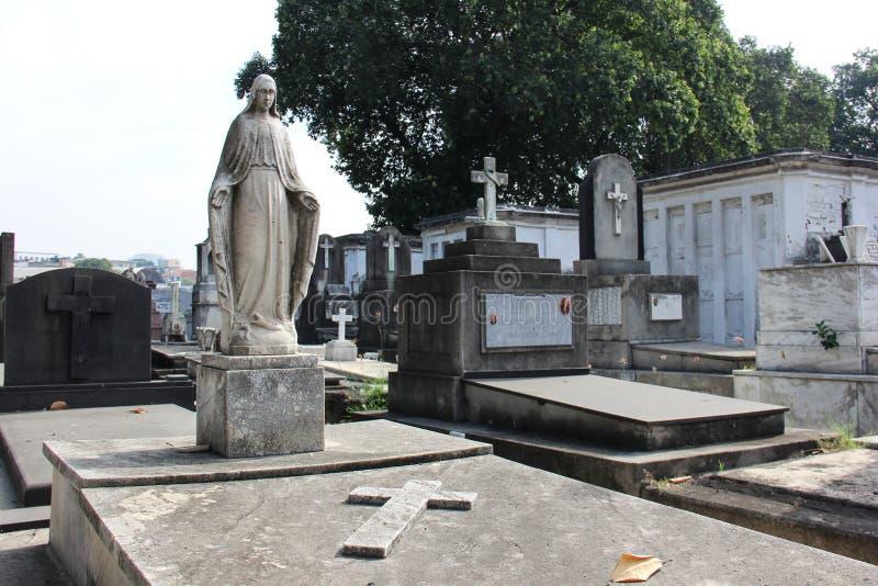 Cemitério em Rio de janeiro imagem de stock royalty free
