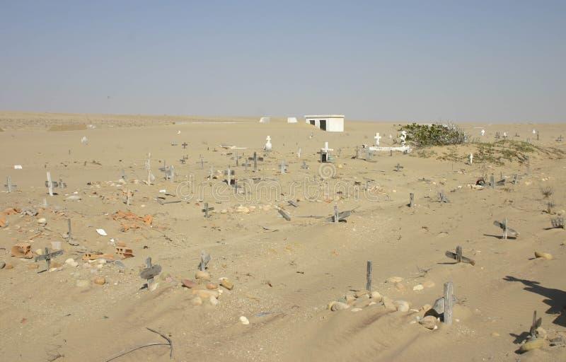 Cemitério enterrado, Angola imagens de stock royalty free
