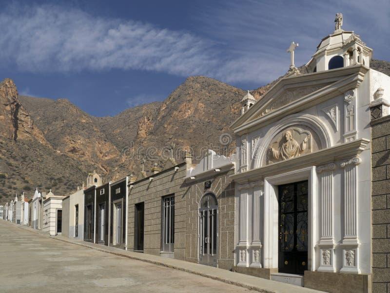 Cemitério espanhol - BLANCA da costela - Spain imagens de stock royalty free