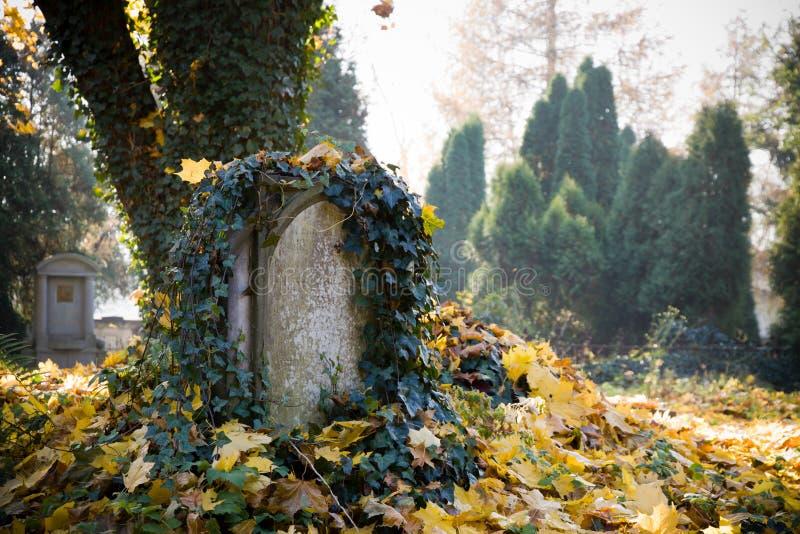 Cemitério evangélico velho imagem de stock