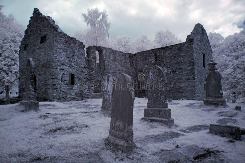 Cemitério gótico foto de stock