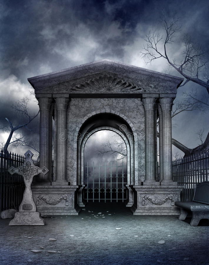 Cemitério gótico 4 ilustração royalty free