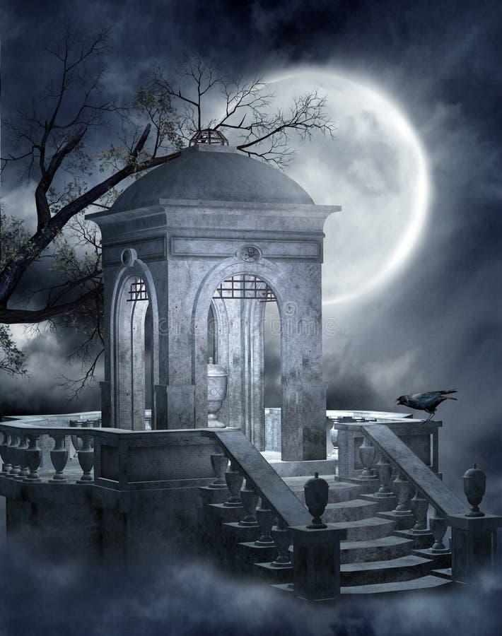 Cemitério gótico 5 ilustração do vetor