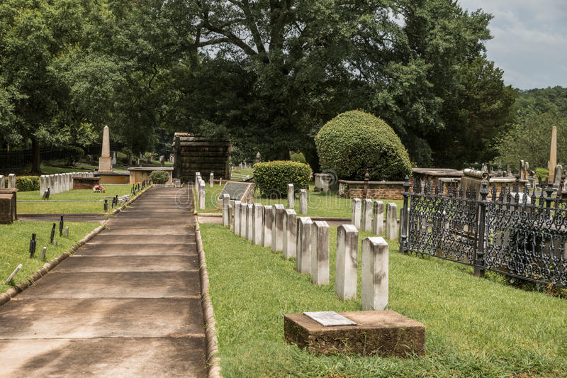 Cemitério histórico de Springwood fotografia de stock