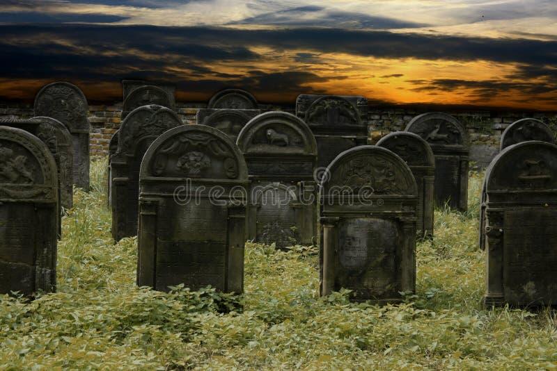 Cemitério judaico imagens de stock royalty free