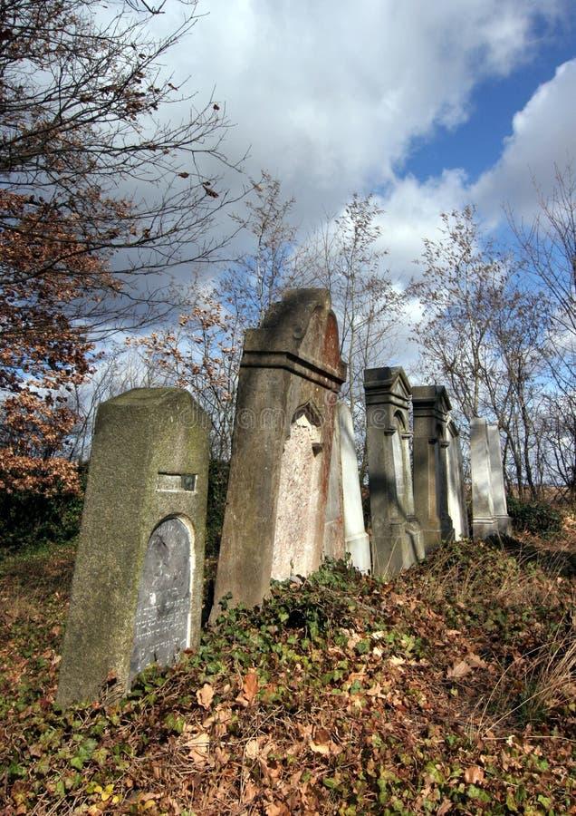 Cemitério judaico fotos de stock royalty free