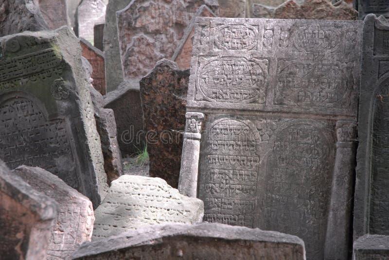 Cemitério judaico de Praga fotografia de stock royalty free