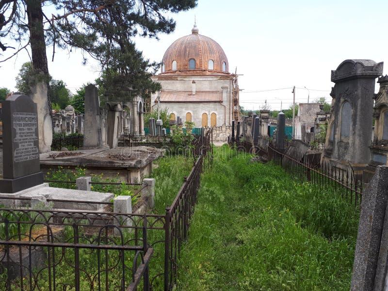 Cemitério judaico em Chernivtsi imagens de stock