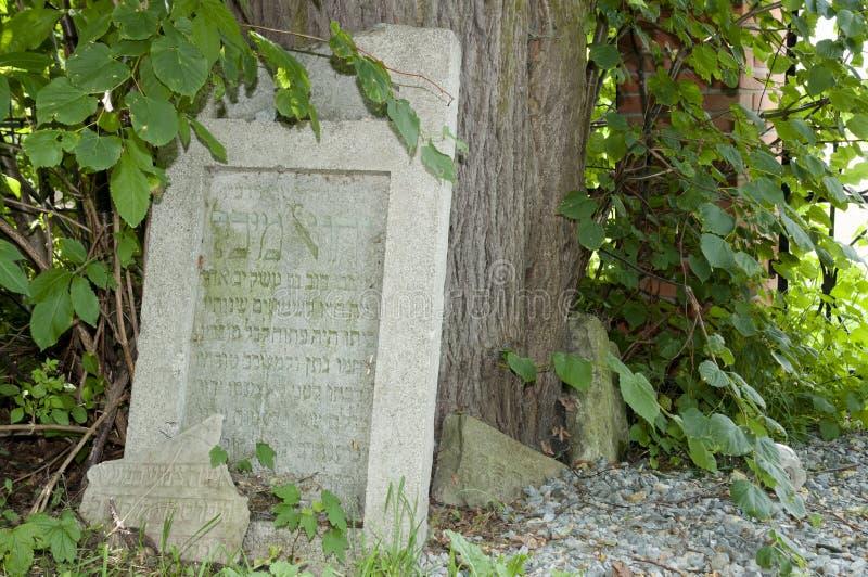 Cemitério judaico - Lezajsk - Polônia imagem de stock