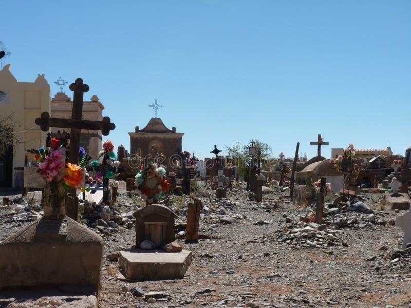 Cemitério local imagens de stock