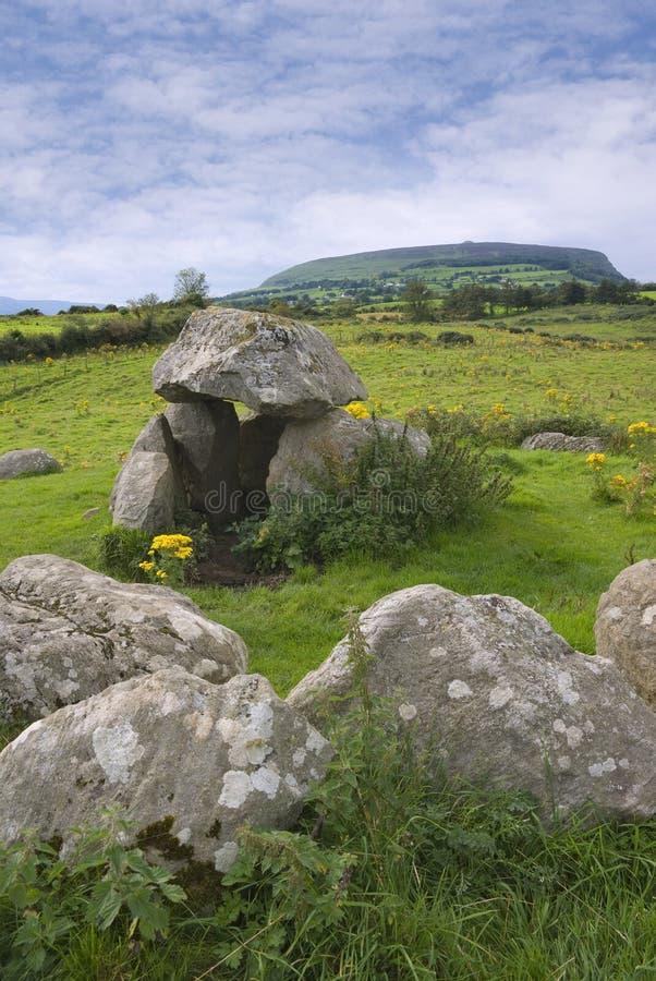 Cemitério megalítico de Carrowmore fotos de stock royalty free