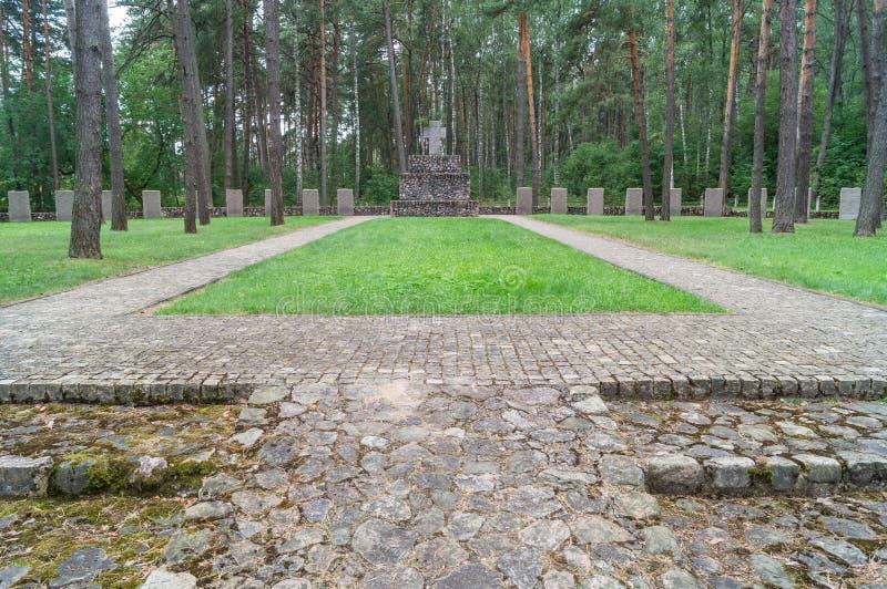 Cemitério memorável alemão perto de Smolensk em Rússia fotos de stock royalty free