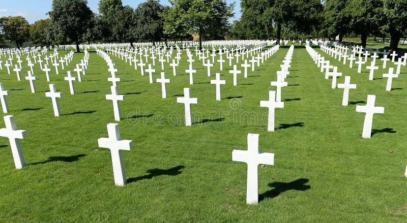 Cemitério militar americano da guerra imagem de stock royalty free