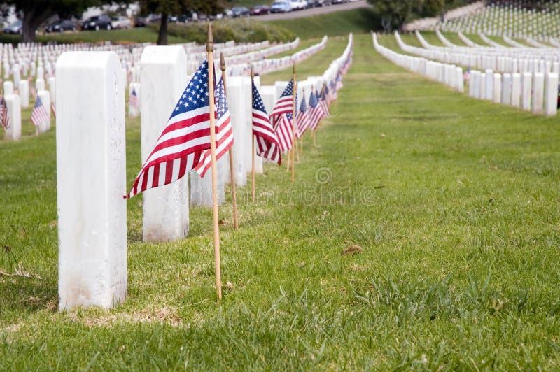 Cemitério militar dos E.U., nacional Cem de Rosecrants do forte imagem de stock