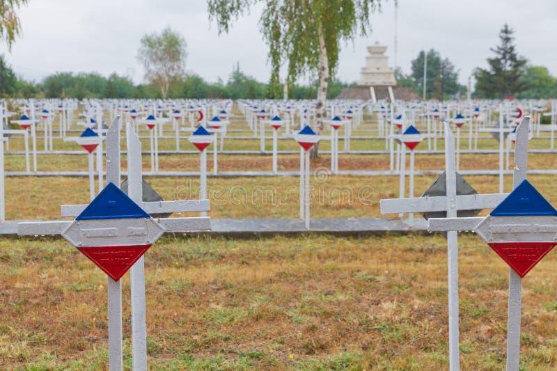 Cemitério militar francês imagens de stock royalty free