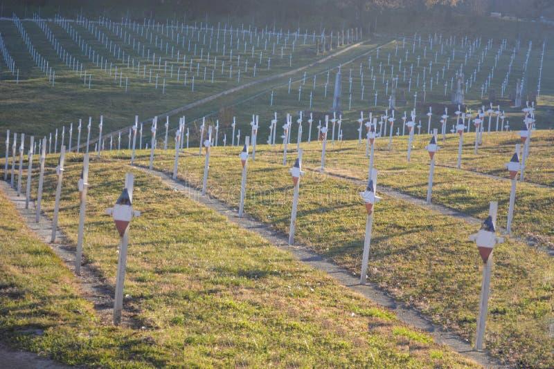 Cemitério militar francês fotografia de stock