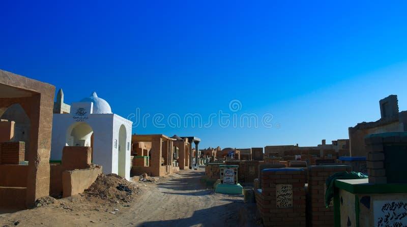 Cemitério muçulmano da Barranco-nos-vênia de Um-Najaf aka, o maior no mundo Iraque foto de stock