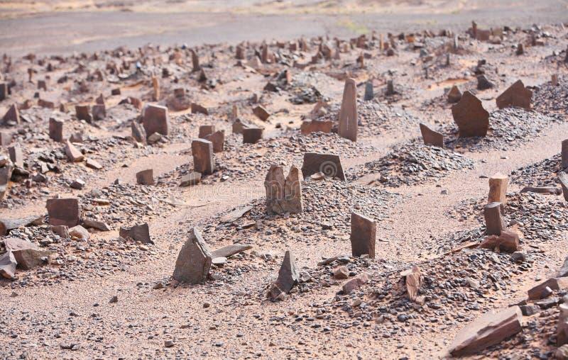Cemitério muçulmano velho imagens de stock
