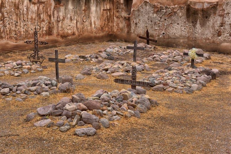 Cemitério na missão do sudoeste imagens de stock