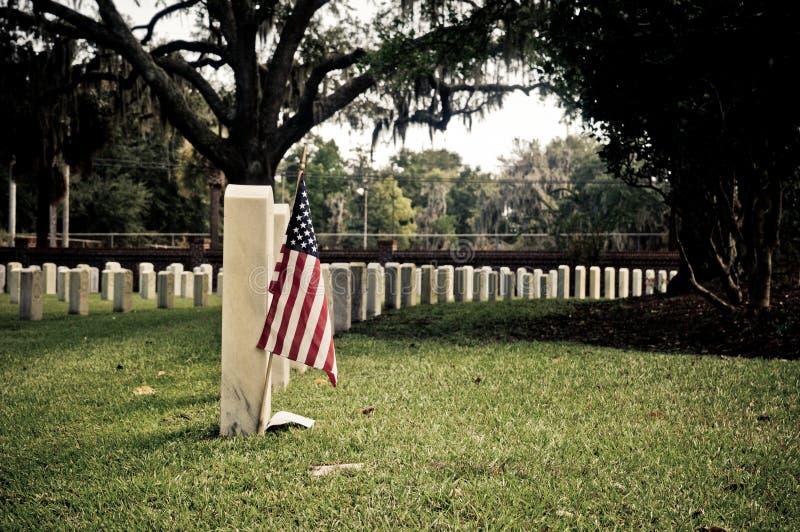 Cemitério nacional imagens de stock