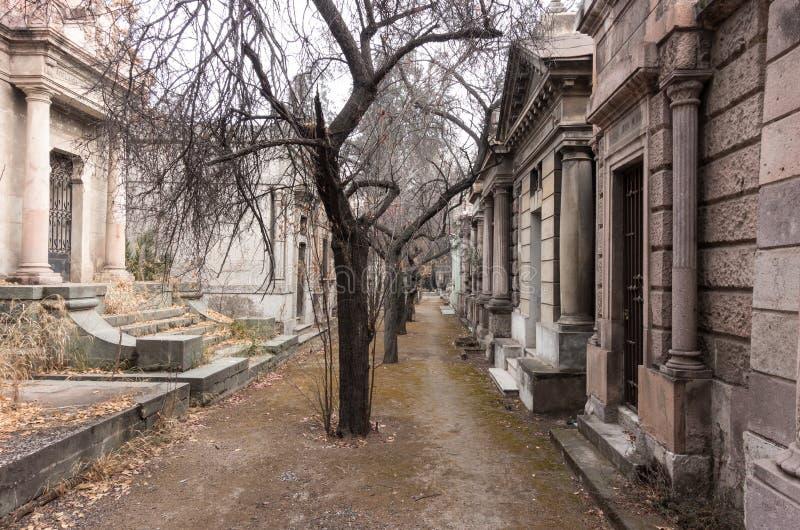 Cemitério nacional (Cementerio Geral de Santiago), Santiago, o Chile foto de stock royalty free