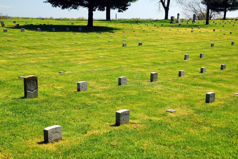 Cemitério nacional de Fredericksburg fotografia de stock