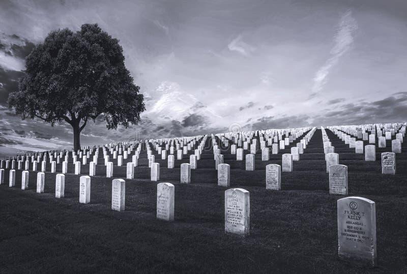 Cemitério nacional de Rosecrans do forte imagem de stock royalty free