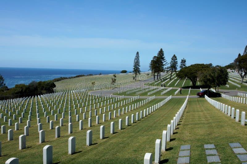 Cemitério nacional de Rosecrans do forte foto de stock