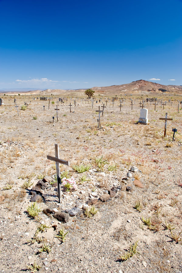 Cemitério no deserto de Nevada foto de stock