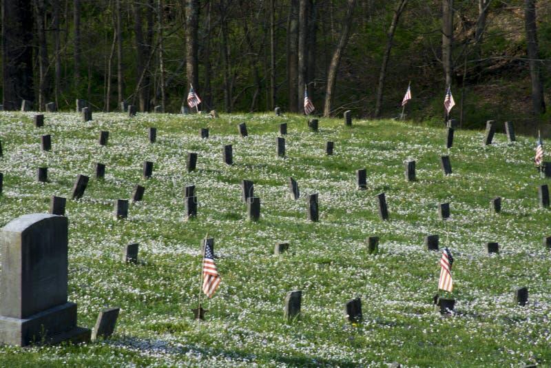 Cemitério no hospital mental imagens de stock