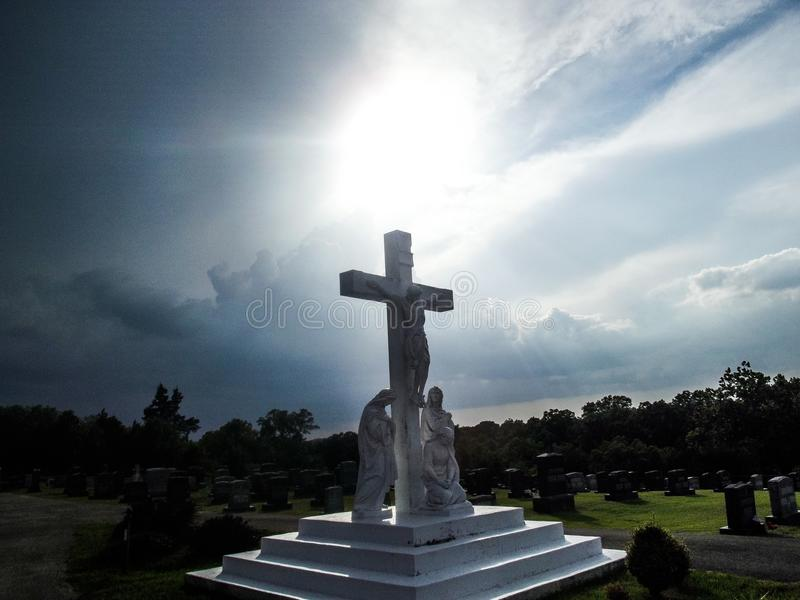 Cemitério no monte fotos de stock