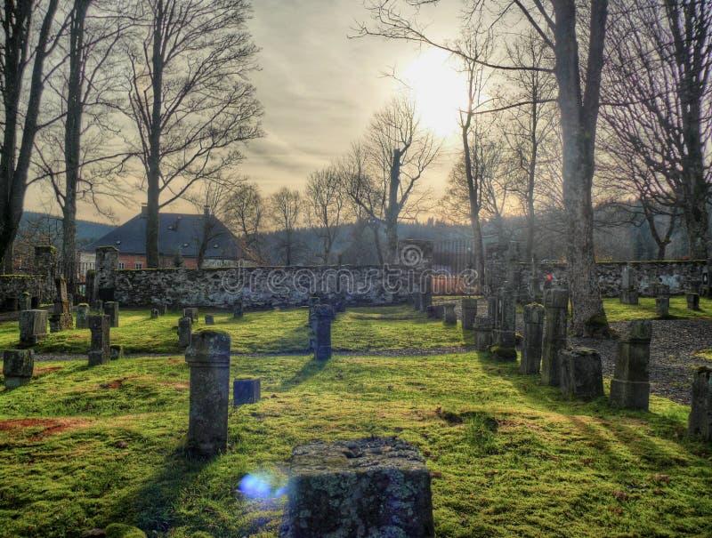 Cemitério no umava ily - Å do ¡ Å de Přàdo ¡ foto de stock royalty free