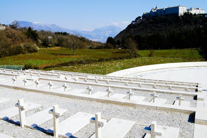 Cemitério polonês de WWII - Monte Cassino - Itália foto de stock royalty free