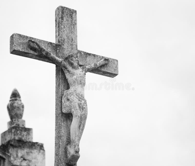 Cemitério transversal concreto imagem de stock