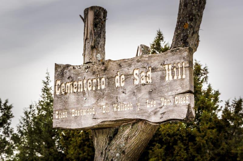 Cemitério triste do monte (o bom, o mau, o feios) imagens de stock royalty free