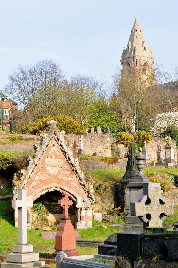 Cemitério velho imagem de stock