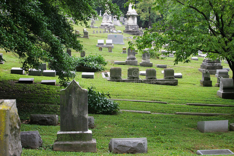 Cemitério velho bonito 2 fotos de stock royalty free