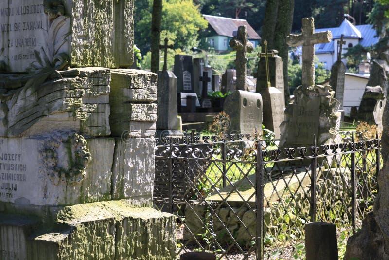 Cemitério velho de Rasu em Vilnius foto de stock